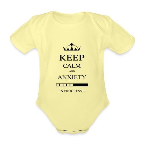 keep_calm - Body ecologico per neonato a manica corta