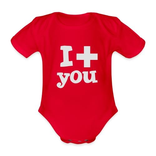 i love you - Baby Bio-Kurzarm-Body