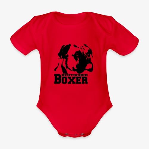 Deutscher Boxer - Baby Bio-Kurzarm-Body