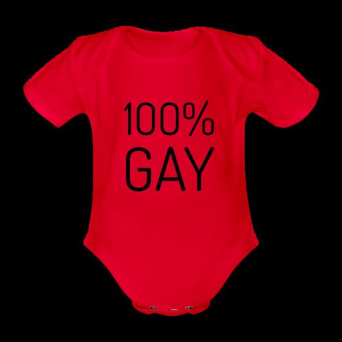 100% Gay - Baby bio-rompertje met korte mouwen