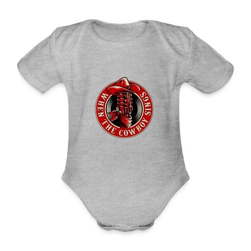 Logo when the cowboy sings - Body orgánico de maga corta para bebé