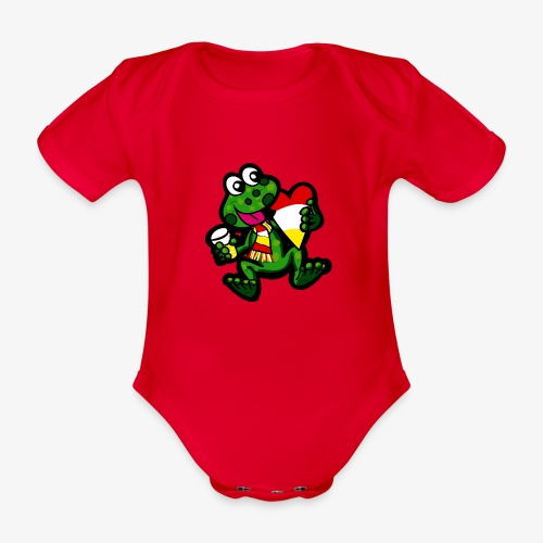 Oeteldonk Kikker - Baby bio-rompertje met korte mouwen