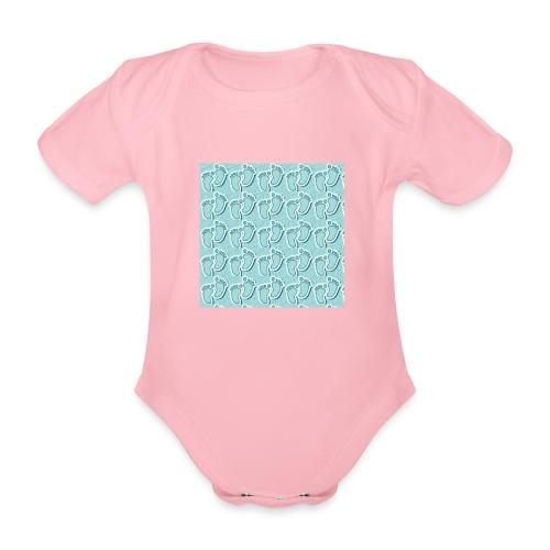 kidfootprint a9 - Organic Short-sleeved Baby Bodysuit