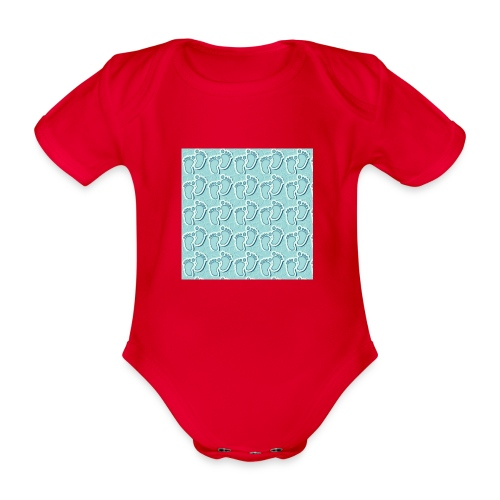 kidfootprint a9 - Organic Short-sleeved Baby Bodysuit