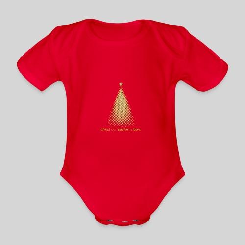 Christus Jesus unser Erretter ist geboren - Baby Bio-Kurzarm-Body