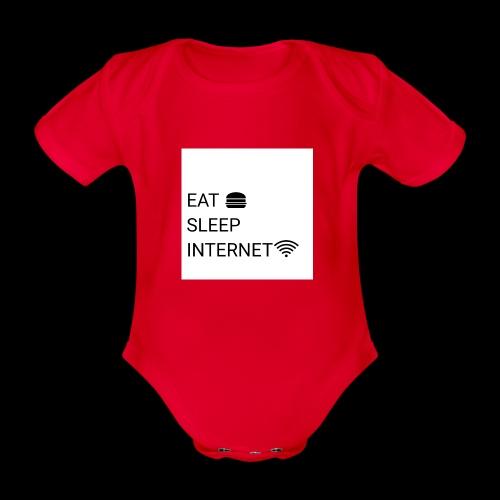 EAT SLEEP INTERNET - Organic Short-sleeved Baby Bodysuit