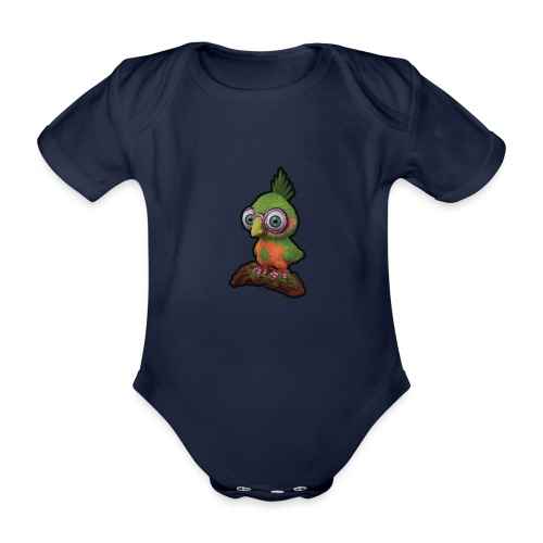 A bird sitting on a branch - Organic Short-sleeved Baby Bodysuit