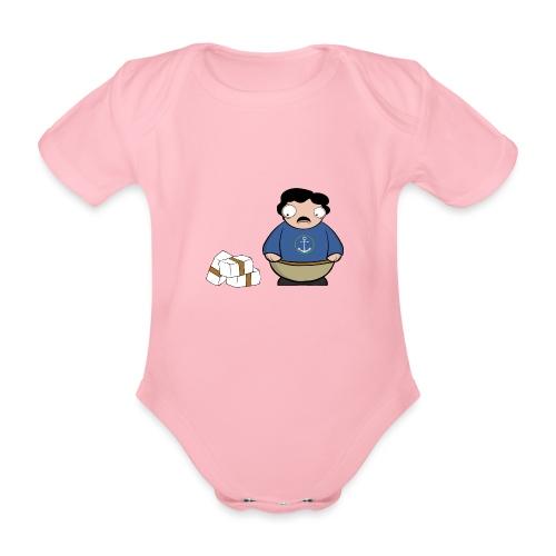 Pablito. - Body orgánico de maga corta para bebé