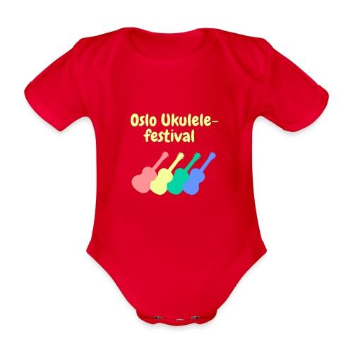 Fire ukuleler - Økologisk kortermet baby-body