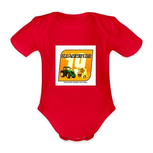 hjarne 123 danmarks bedeste youtuber - Kortærmet babybody, økologisk bomuld