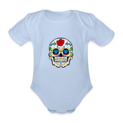 skull2 - Body ecologico per neonato a manica corta