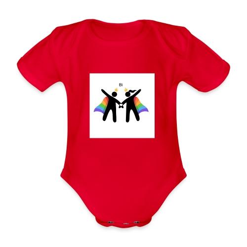 LGBT BI - Kortærmet babybody, økologisk bomuld