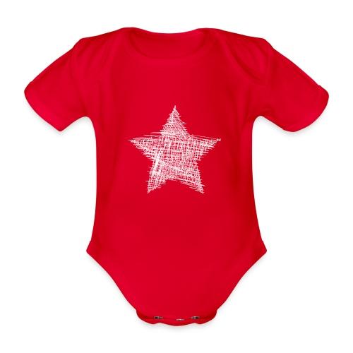 Estrella blanca - Body orgánico de manga corta para bebé