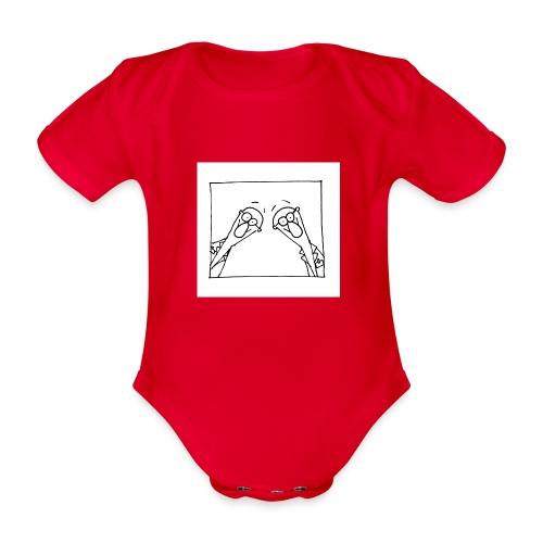 w14 oni - Ekologiczne body niemowlęce z krótkim rękawem