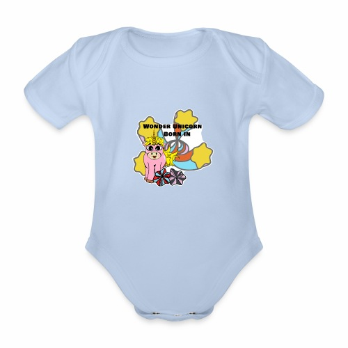 Merveilleuse Licorne née (pour fille) - Body Bébé bio manches courtes