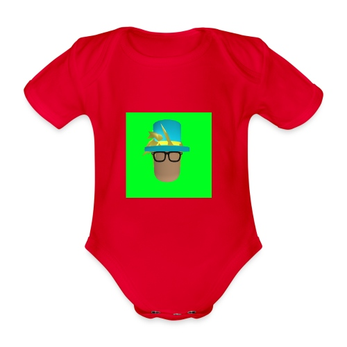 MrWhatWhat Logo Merch - Organic Short-sleeved Baby Bodysuit