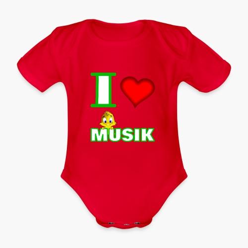 Ich liebe Musik - Baby Bio-Kurzarm-Body