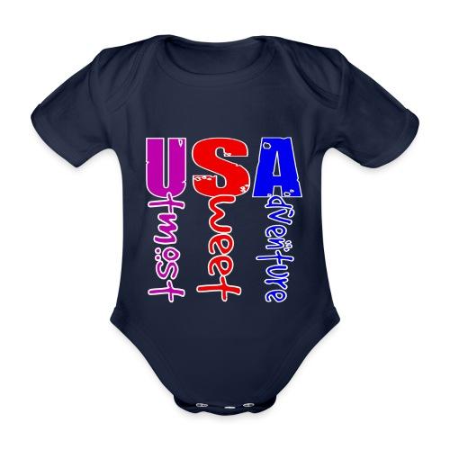 USA-Utmost Sweet Adventure - Body Bébé bio manches courtes