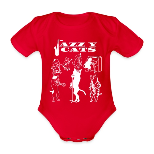 Jazzy Cats - Body Bébé bio manches courtes