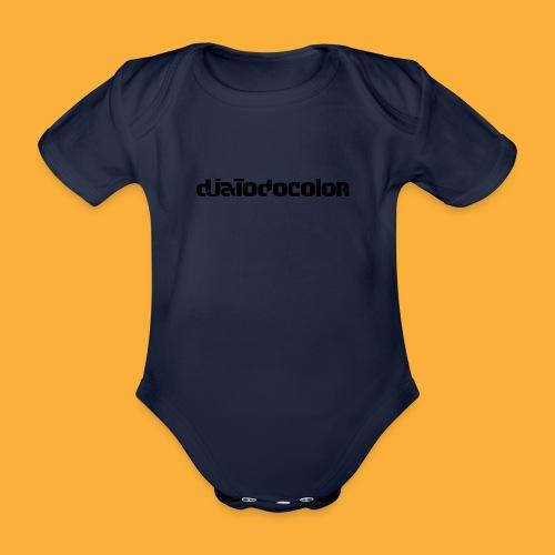 DJATODOCOLOR LOGO NEGRO - Body orgánico de maga corta para bebé
