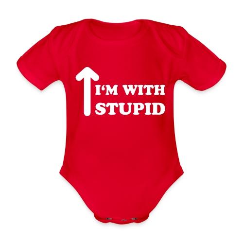 stupid ai - Baby Bio-Kurzarm-Body