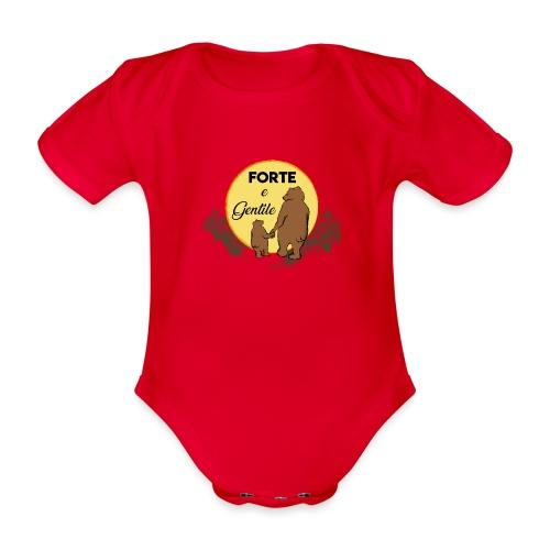 Forte e gentile - Body ecologico per neonato a manica corta