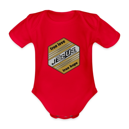 jesus 6eck - Baby Bio-Kurzarm-Body