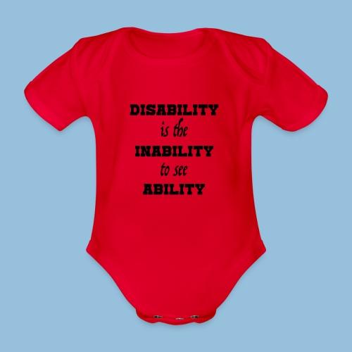 Ability4 - Baby bio-rompertje met korte mouwen