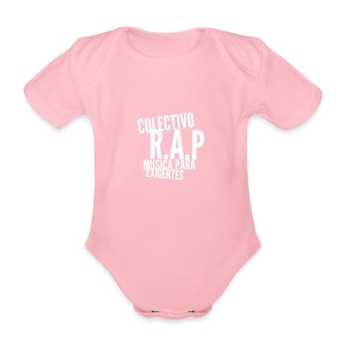 SOLO PARA AMANTES DEL RAP// Colectivo R.A.P - Body orgánico de manga corta para bebé