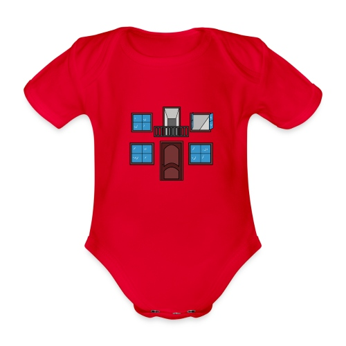 Window of the heart - Body orgánico de maga corta para bebé