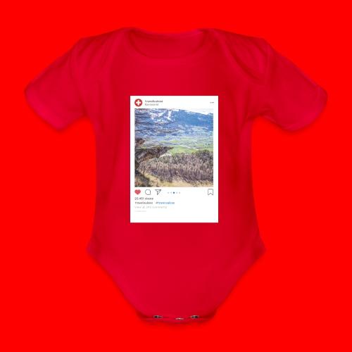 travelsuisse - Aussicht Richtung Wangs - Baby Bio-Kurzarm-Body