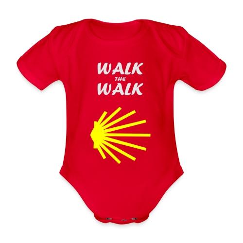 Walk the Walk - Camino de Santiago - Kortærmet babybody, økologisk bomuld