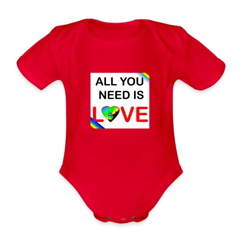 all you need is peace and love - Body Bébé bio manches courtes