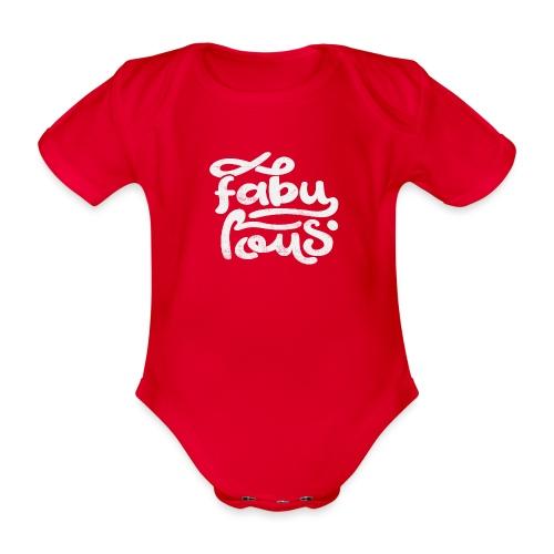 Fabulous - Ekologisk kortärmad babybody