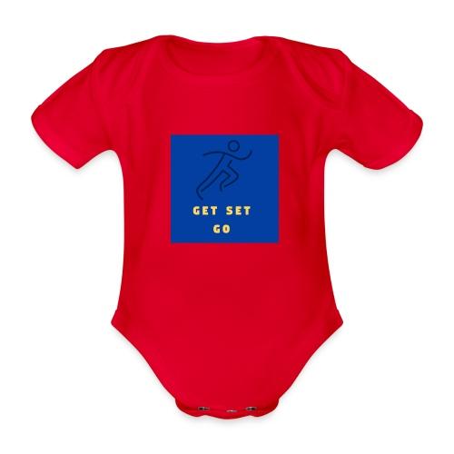 GET SET GO - Organic Short-sleeved Baby Bodysuit