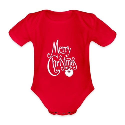 Merry Christmas - Organic Short-sleeved Baby Bodysuit