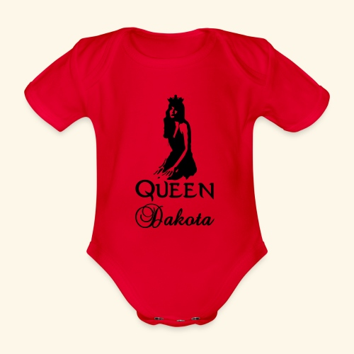 Queen Dakota - Organic Short-sleeved Baby Bodysuit