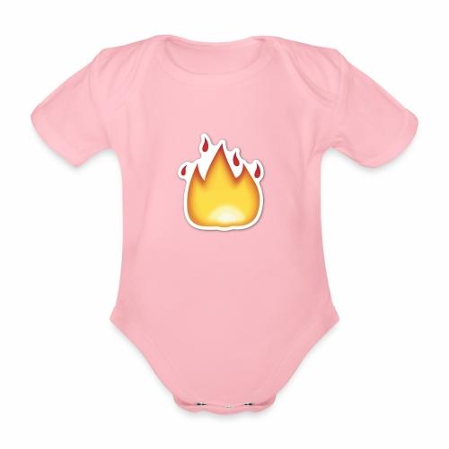 Liekkikuviollinen vaate - Vauvan lyhythihainen luomu-body
