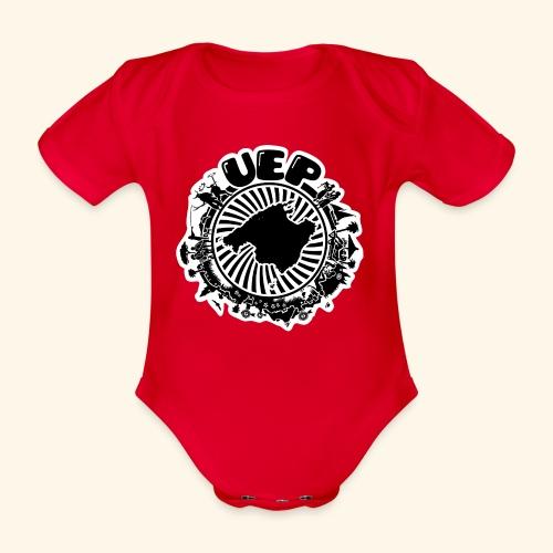 UEP white background - Organic Short-sleeved Baby Bodysuit