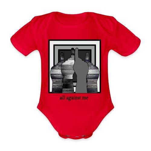 ALL AGAINST ME-2 - Body orgánico de manga corta para bebé