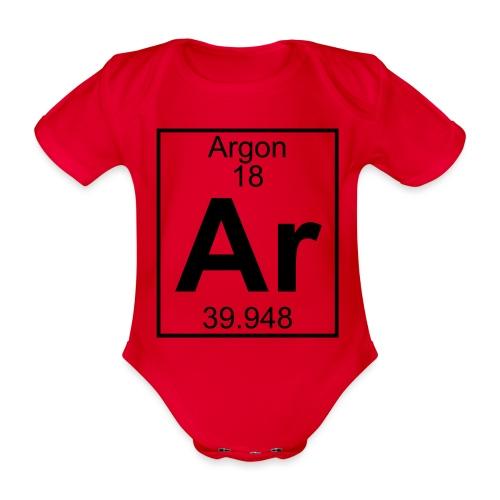 Argon (Ar) (element 18) - Organic Short-sleeved Baby Bodysuit