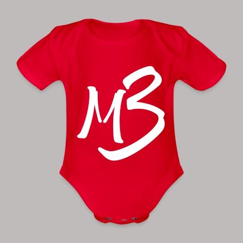 MB 13 white - Organic Short-sleeved Baby Bodysuit