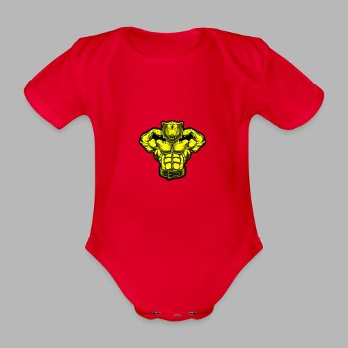 Bodybuilder Wolf - Baby Bio-Kurzarm-Body