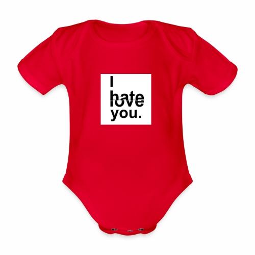love hate - Organic Short-sleeved Baby Bodysuit