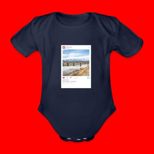 travelsuisse - Bruecke Vaduz - Baby Bio-Kurzarm-Body