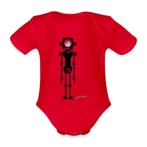 gambots roboter 04 - Baby Bio-Kurzarm-Body