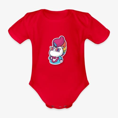Funny Unicorn - Organic Short-sleeved Baby Bodysuit