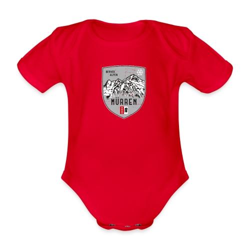 Eiger, Mönch und Jungfrau mit Mürren Flagge - Organic Short-sleeved Baby Bodysuit
