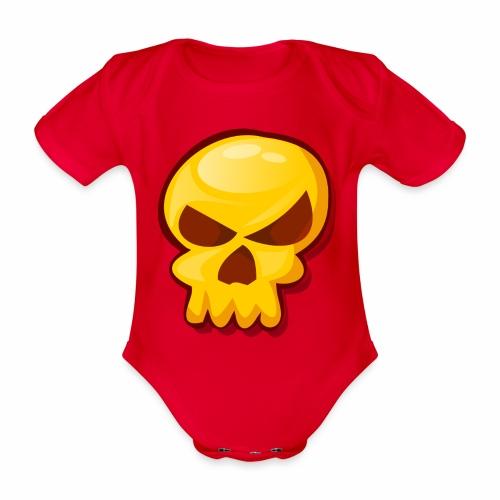 Golden Skull - Body orgánico de manga corta para bebé
