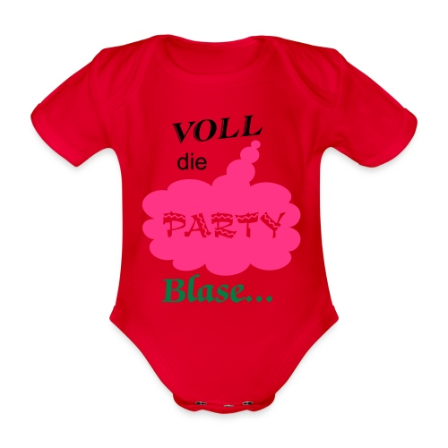 Party Blase - Baby Bio-Kurzarm-Body